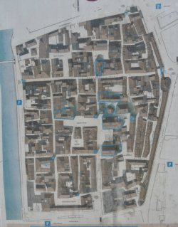 map of the old town of Albenga