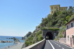 beginning of cycle lane Levanto
