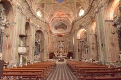 interiors of church in Cervo