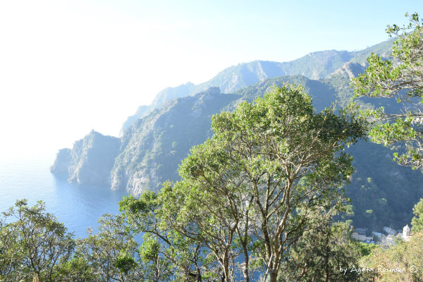 view from trail San Fruttuoso