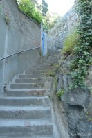 way to castle in Levanto