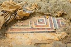 parts of mosaics under the cloth