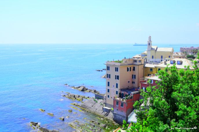 Boccadasse and Ligurian sea