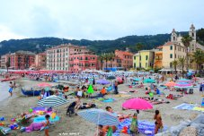 sandy beach in Laigueglia