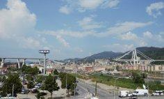 the red zone of collapsed bridge Genoa