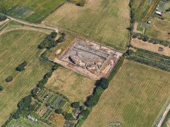 Roman theater by Google Maps
