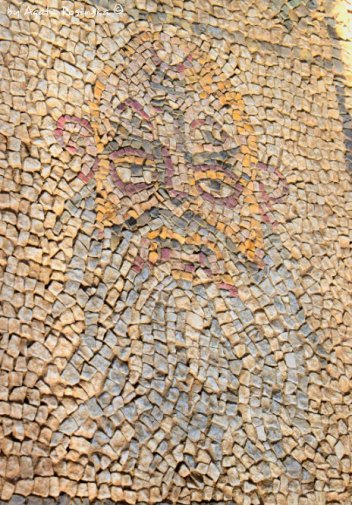 double face mosaics old man