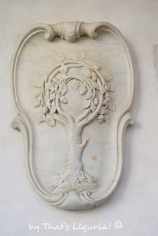 cloister details in Savona