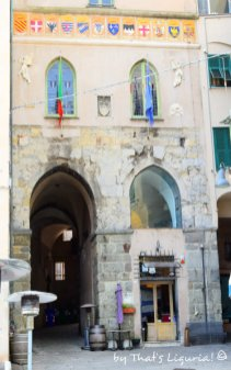 historical centre entrance Savona