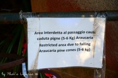 warning in Villa Durazzo Park