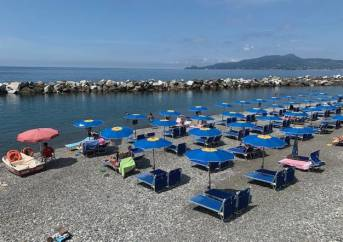 Ligurian private beach post covid 19