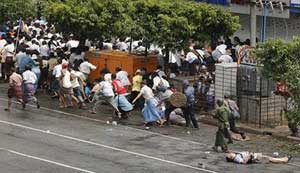 Myanmar Protest and Police firing