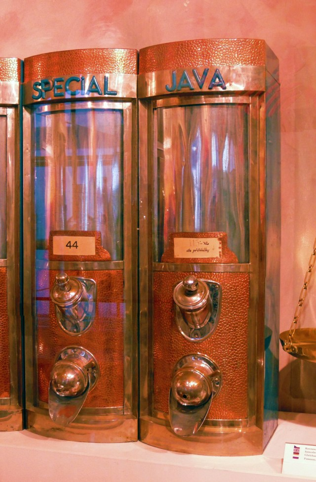 Coffee bean dispenser, Czech Republic