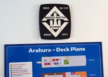 """Ferry """"Arahura"""", made in Denmark, 1983."""