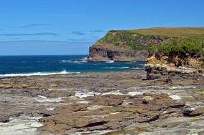 rocky cliff near the beach