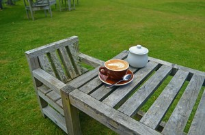 Coffee on the lawn