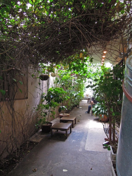 Outside section of cafe
