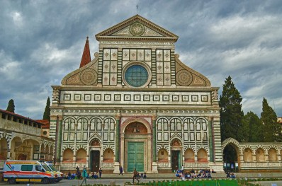 Santa Maria Novella, Gothic church with Renaissance Facade, built 1456-70