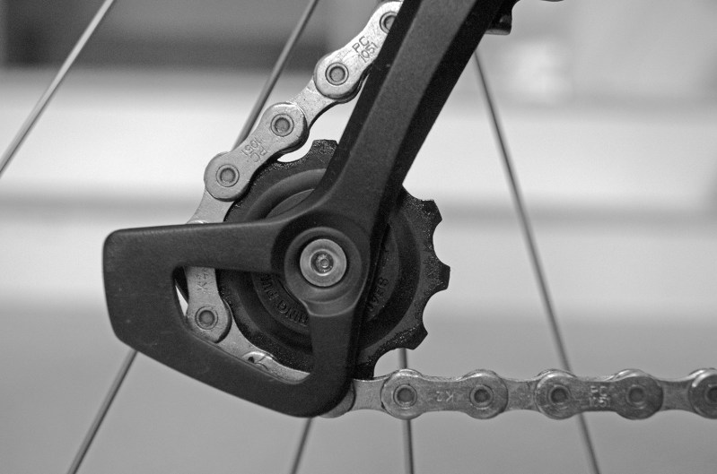 Rear chain guide
