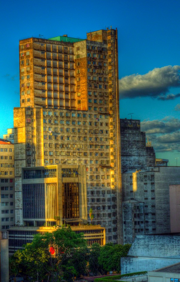 Sunset HDR photo of office building in Belo Horizonte, Brazil