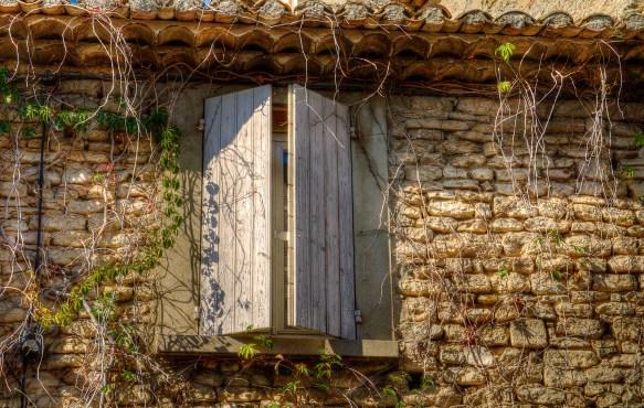 wooden window shutter