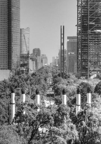 Avenue of skyscrapers, Mexico City