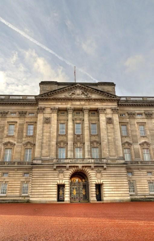 Closeup of Buckingham Palace, London, England