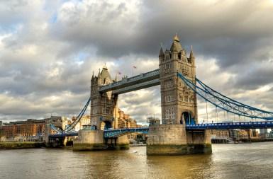 London Tower bridge on the river Thames