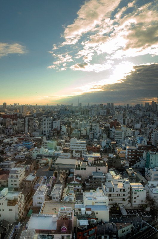 Sunset picture with a great city view. Just one of my many Tokyo photos.