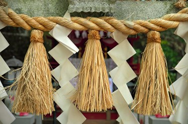 Decorated Straw Rope