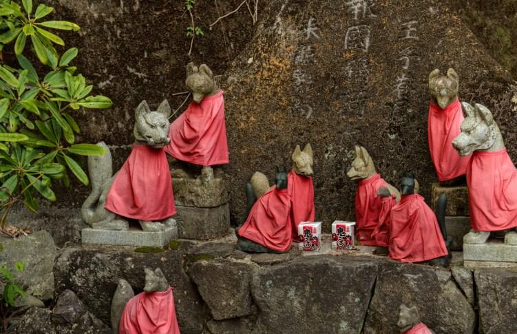 Dressed Dog Statues