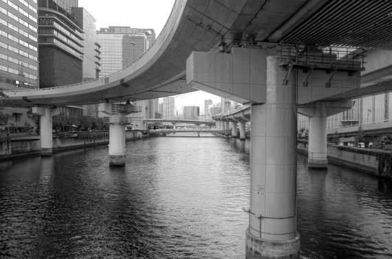 Osaka Highway over water