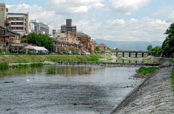 Morning by the river in Kyoto
