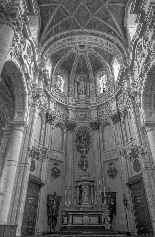 Central Altar of a Church - Belgium, Brussels