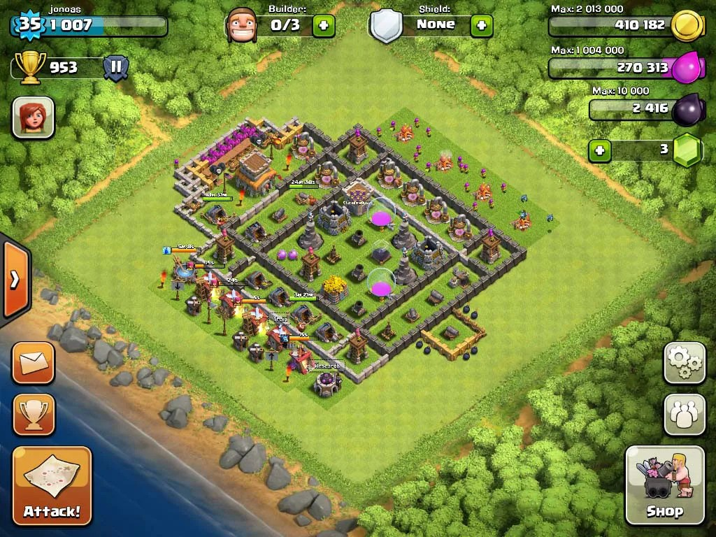 Top 10 Clash Of Clans Town Hall Level 8 Defense Base Design 5