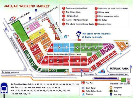 Chatuchak Weekend Market Map