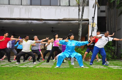 Qigong class Mines Wellness Hotel