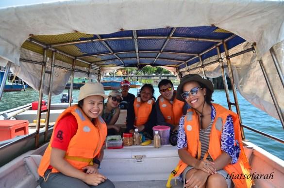 On the way to Pulau Satang besar