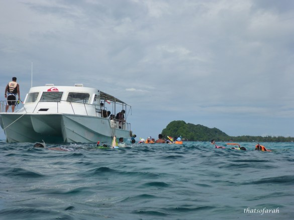 Snorkelling at Mantanani Island