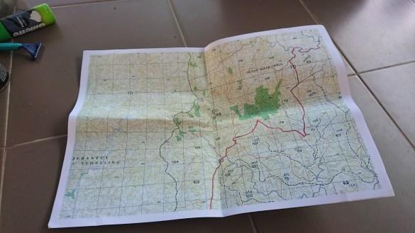 Topo Map Gunung Lipat Sanggul