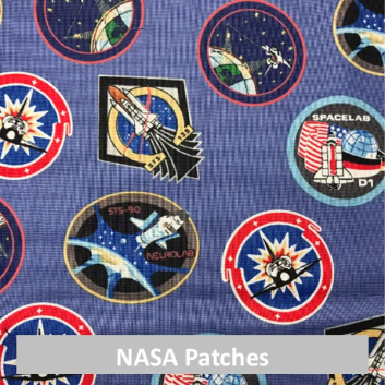 NASA patches fabric
