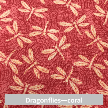 dragonfly coral fabric