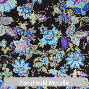 floral gold metallic fabric