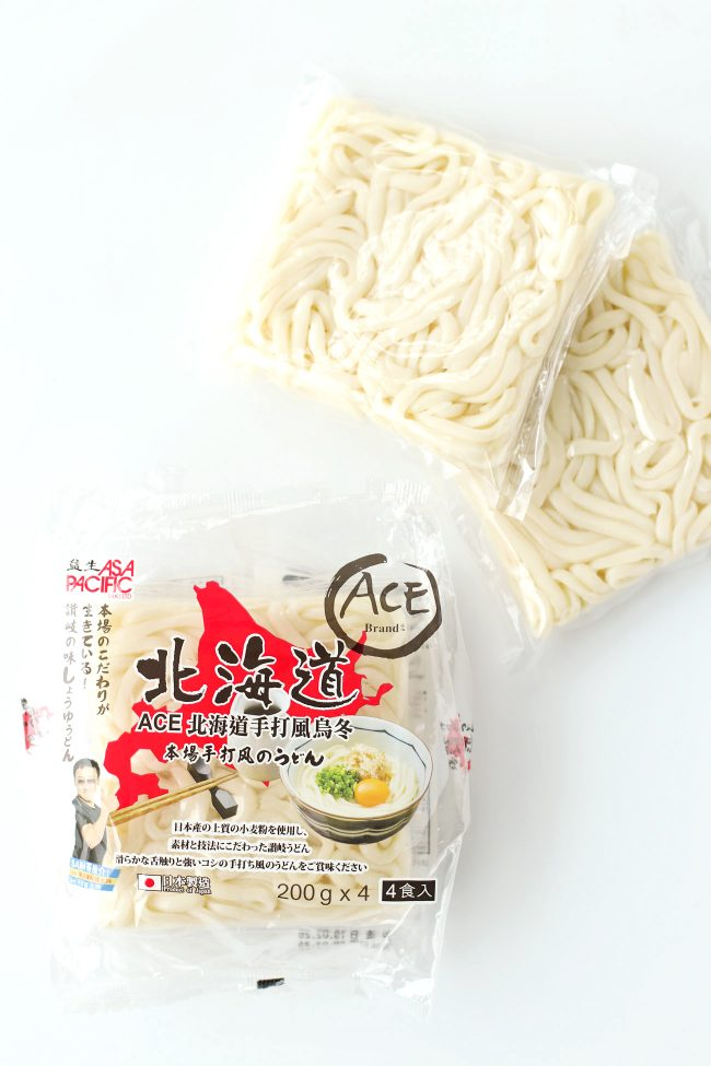Udon noodles packets.