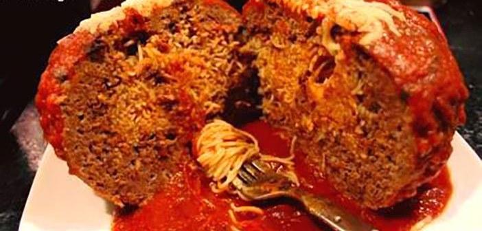 TSJ's Spaghetti Stuffed Meatball on POPSUGAR Food