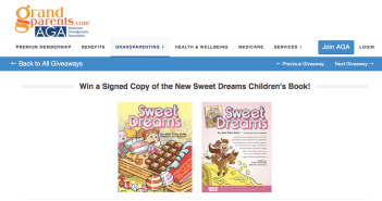 Sweet Dreams Giveaway on Grandparents.com!