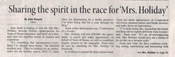 Mrs. Holiday_Fairfield Sun page 1