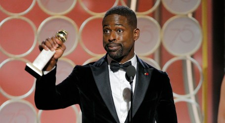 Sterling K. Brown reacts to making Golden Globes history as first black actor to win best actor in a TV drama