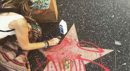 Paris Jackson cleans defaced Michael Jackson Walk of Fame star