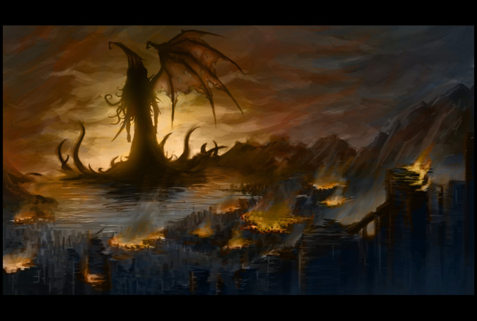 Dread Cthulhu awakes in R'lyeh and the world burns